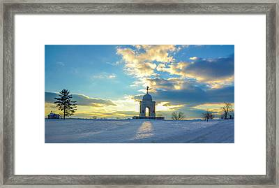The Gettysburg Memorial At Sunset Framed Print by Bill Cannon