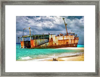 The Ghost Of Grand Turk Framed Print by Mariola Bitner