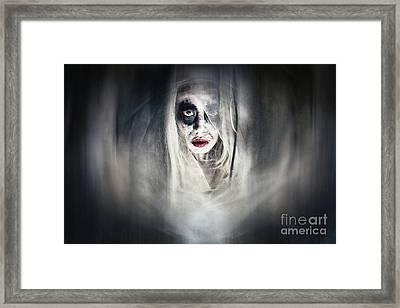 The Ghost Of Oyuki Framed Print by Spokenin RED