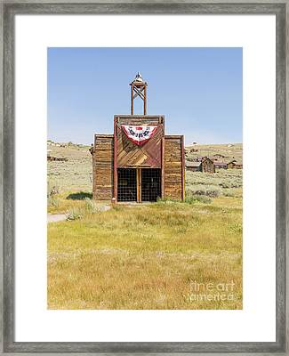 The Ghost Town Of Bodie California Fire House Dsc4431 Framed Print by Wingsdomain Art and Photography
