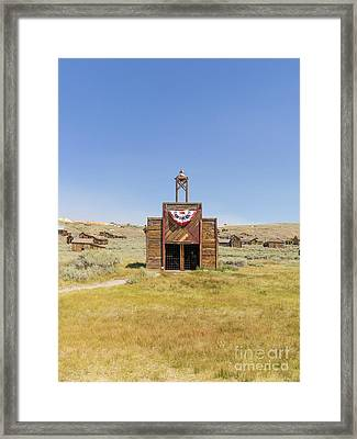 The Ghost Town Of Bodie California Fire House Dsc4432 Framed Print by Wingsdomain Art and Photography