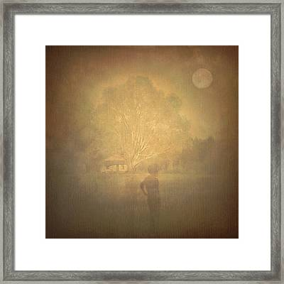 The Ghost Turns Away Framed Print