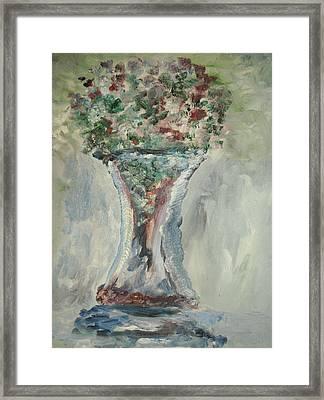 The Giant Goblet Vase Framed Print by Edward Wolverton