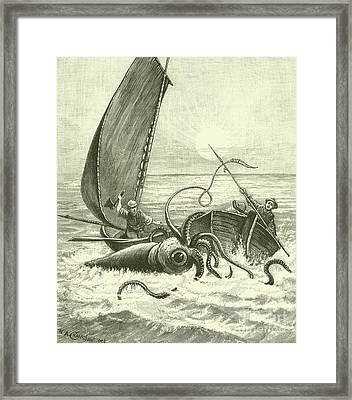 The Giant Octopus Framed Print