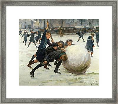 The Giant Snowball Framed Print by Jean Mayne