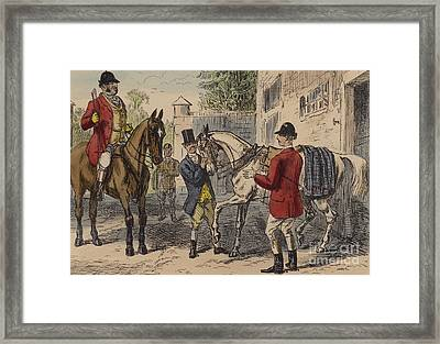 The Gift Horse Framed Print by John Leech