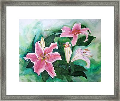 Framed Print featuring the painting The Gift by Margaret Bobb
