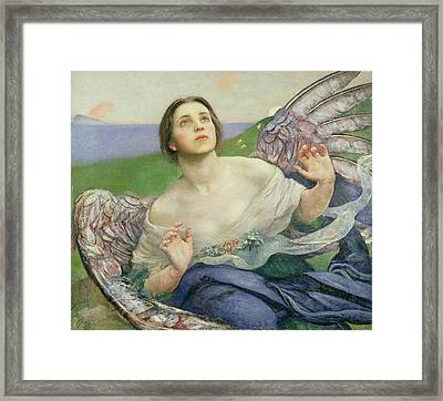 The Gift Of Sight Framed Print by Annie Louisa Swynnerton