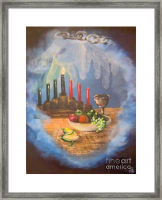 Framed Print featuring the painting The Gift by Saundra Johnson