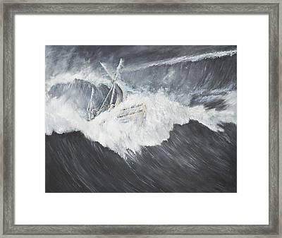 The Gigantic Wave Framed Print by Vincent Alexander Booth