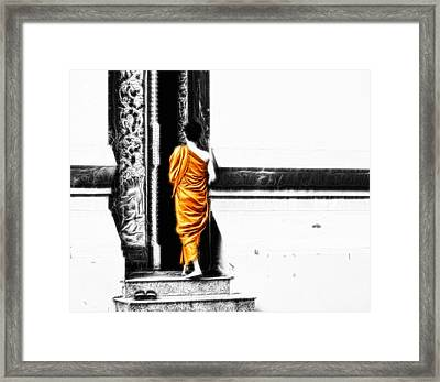 Framed Print featuring the photograph The Gilded Monk by Cameron Wood