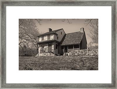 The Gilpin House Monochrome Framed Print