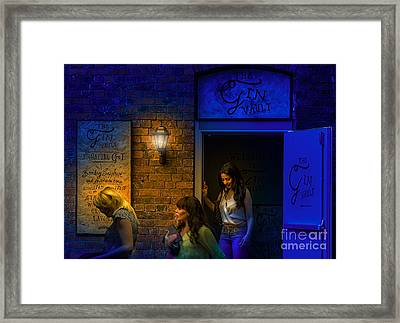 The Gin Vault Door Framed Print by Nick Eagles