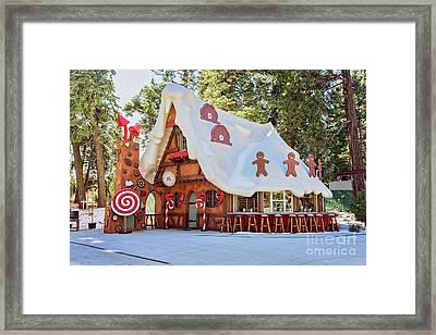 The Gingerbread House Framed Print by Eddie Yerkish