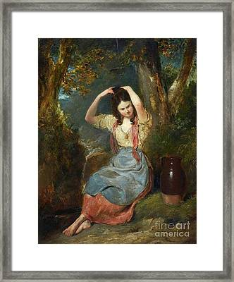 The Girl At The Well Framed Print
