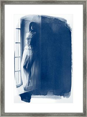 The Girl At The Window. Framed Print by Andrey  Godyaykin