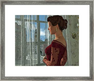 The Girl At The Window Framed Print