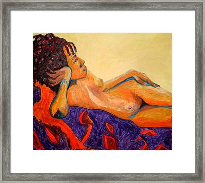 Framed Print featuring the painting The Girl From Ipanima by Esther Newman-Cohen