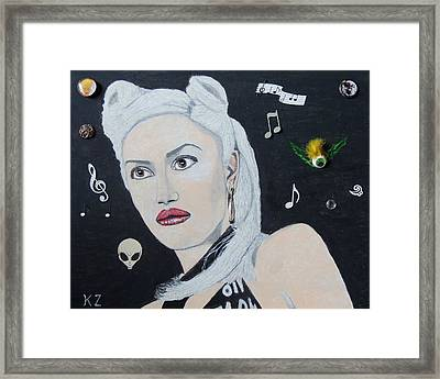 The Girl From Orange County.gwen Stefani. Framed Print by Ken Zabel