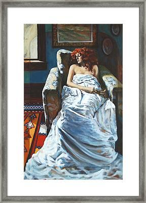 The Girl In The Chair Framed Print by Rick Nederlof