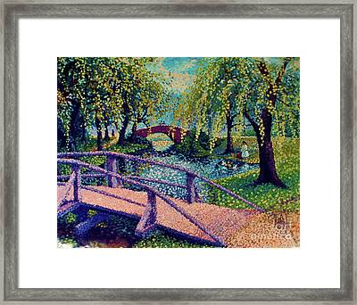 The Girl In The Park Framed Print by Anthony Vandyk
