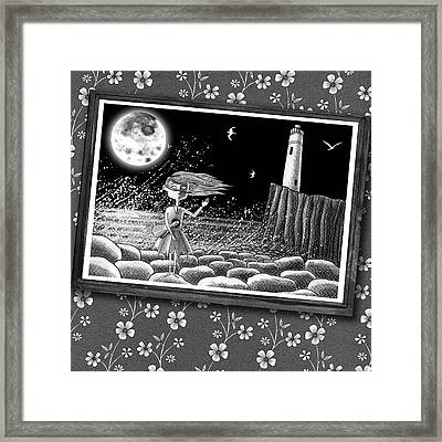 The Girl In The Photograph  Framed Print