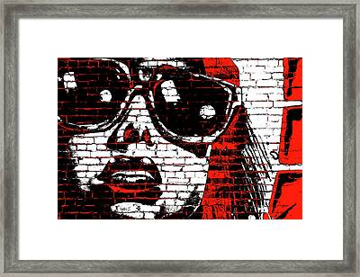 The Girl Is Looking At You Framed Print