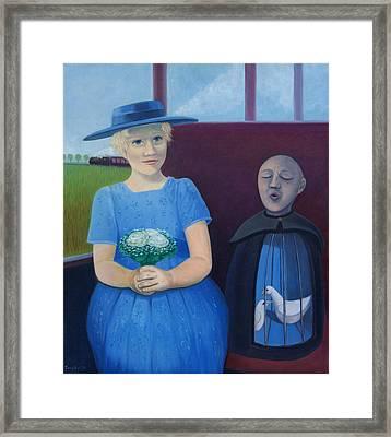 The Girl On The Train Framed Print