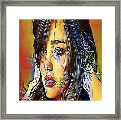 The Girl Tears- My Www Vikinek-art.com Framed Print
