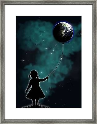 The Girl That Holds The World Framed Print by Nicklas Gustafsson