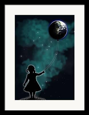 Earth Drawings Framed Prints