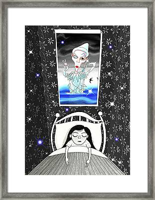 The Girl Who Dreamed Of David Bowie  Framed Print by Andrew Hitchen