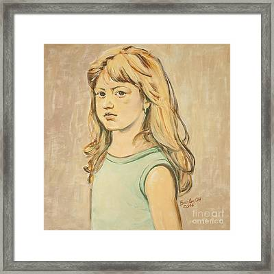 The Girl With The Golden Hair Framed Print