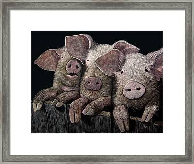 The Girls Framed Print by Linda Hiller