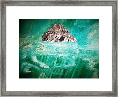 The Glacier Framed Print by Roy Penny