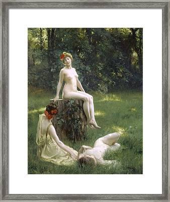 The Glade Framed Print by Julius Leblanc Stewart