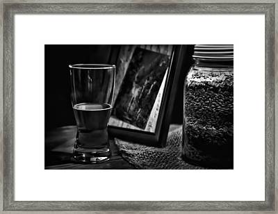 The Glass Is Half Full Framed Print by David Patterson