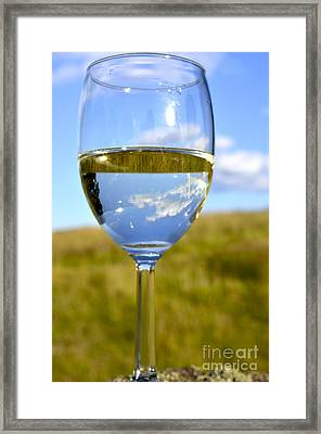 The Glass Is Half Full Framed Print