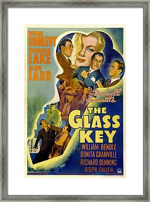 The Glass Key, William Bendix, Veronica Framed Print
