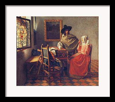 Wine Sipping Paintings Framed Prints