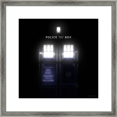 The Glass Police Box Framed Print