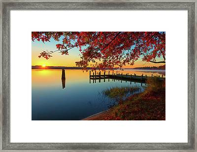 Framed Print featuring the photograph The Glassy Patuxent by Cindy Lark Hartman