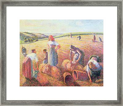 The Gleaners Framed Print by Camille Pissarro