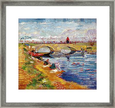 The Gleize Bridge Over The Vigneyret Canal  Framed Print