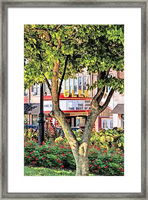 The Glen Movie Theater Framed Print by Christopher Arndt