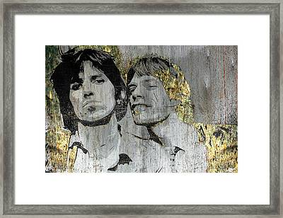 The Glimmer Twins Framed Print by Tony Rubino