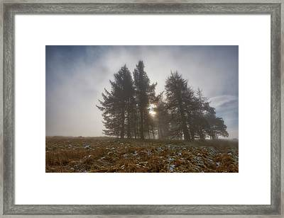 Framed Print featuring the photograph The Gloomy Sunrise by Jeremy Lavender Photography