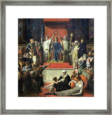 The Glorification Of Saint Louis Framed Print by MotionAge Designs