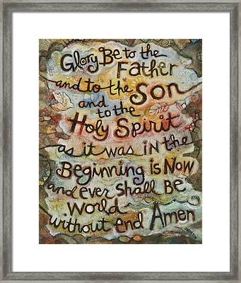 The Glory Be Framed Print by Jen Norton