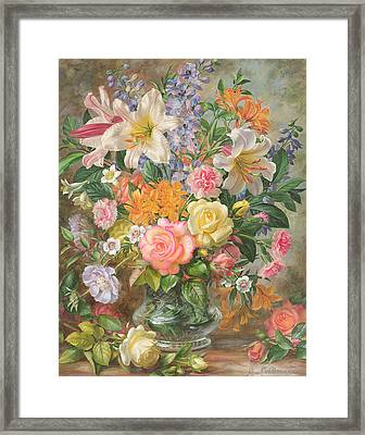 The Glory Of Summertime Framed Print by Albert Williams